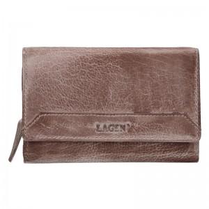 Dámská kožená peněženka Lagen Denisa - béžovo-hnědá