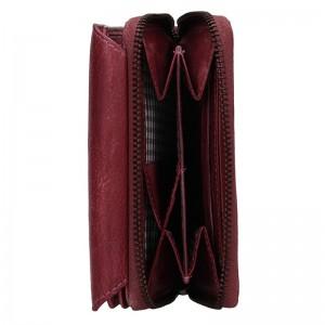 Dámská kožená peněženka Lagen Miriam - fialová