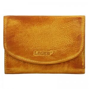 Dámská kožená peněženka Lagen Norra - žluto-hnědá