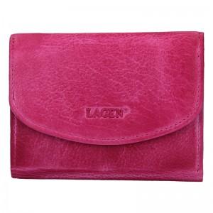 Dámská kožená peněženka Lagen Norra - růžová