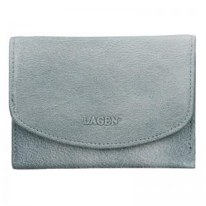 Dámská kožená peněženka Lagen Norra - modrá