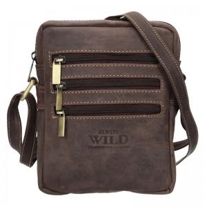 Pánská taška přes rameno Always Wild Emil - tmavě hnědá