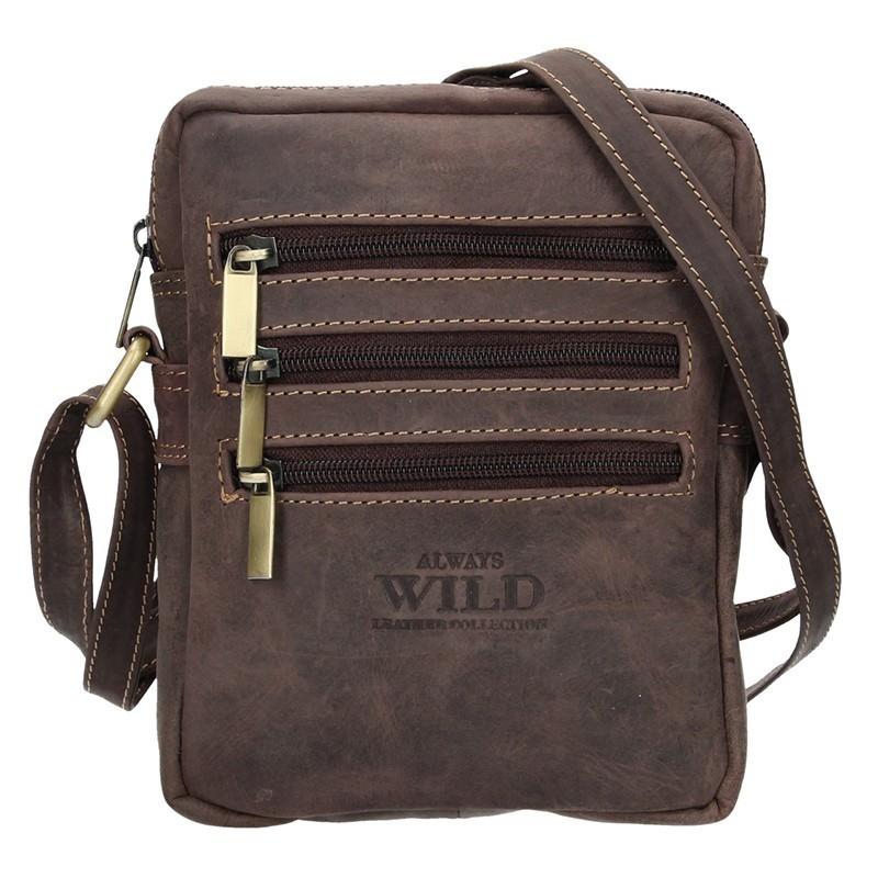 2e99faff12 Pánská taška přes rameno Always Wild Emil - tmavě hnědá