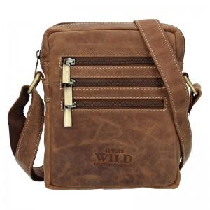 Pánská taška přes rameno Always Wild Emil - světle hnědá