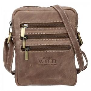 Pánská taška přes rameno Always Wild Emil - taupe