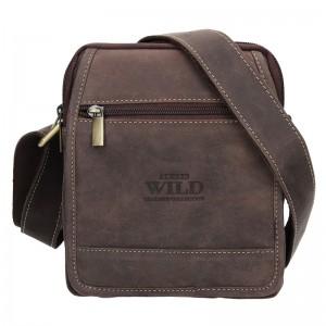 Pánská taška přes rameno Always Wild Noah - tmavě hnědá
