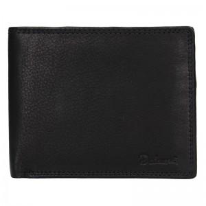 Pánská kožená peněženka Diviley Lown - černá