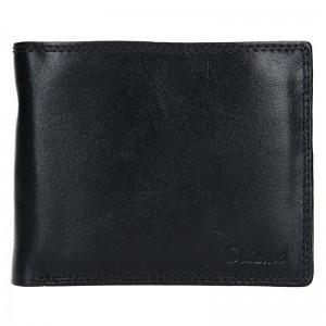 Pánská kožená peněženka Diviley Ursus - černá