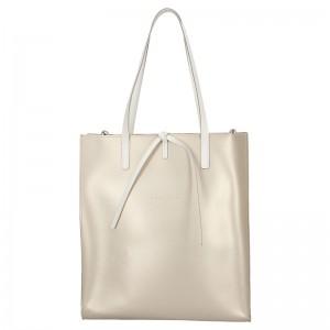 Dámská kožená kabelka Facebag Elmo - zlatá