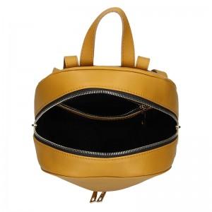 Dámský kožený batoh Facebag Paloma - hořčicová