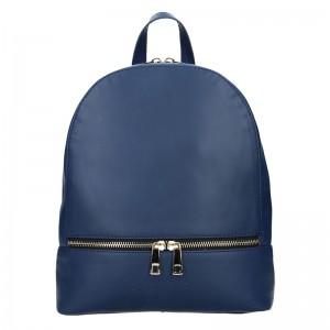 Dámský kožený batoh Facebag Paloma - modrá