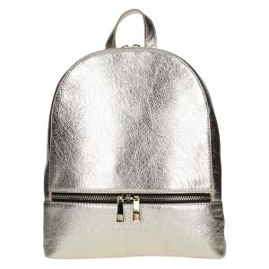 Dámský kožený batoh Facebag Paloma - zlatá