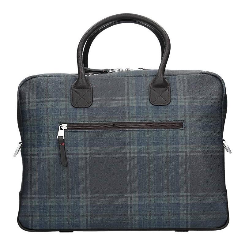 Pánská pracovní taška Lerros Kevin - modro-hnědá