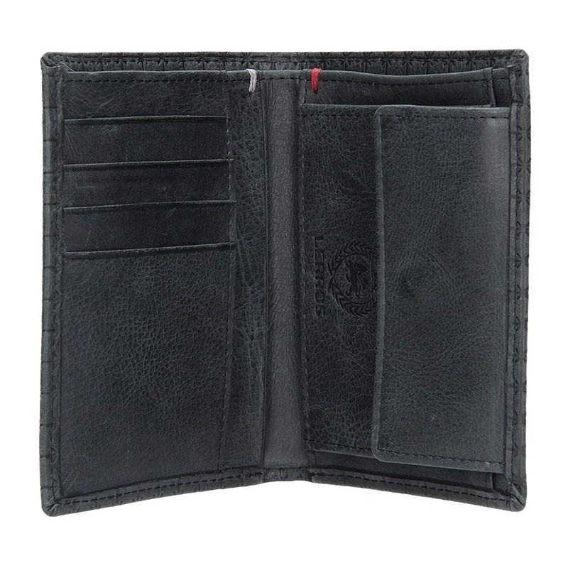 Kožená pánská peněženka Lerros August - černá