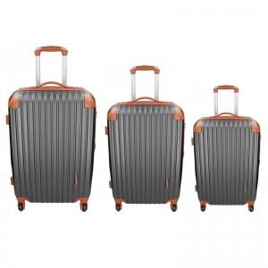 Sada 3 cestovních kufrů Madisson Apolen S,M,L - šedo-hnědá