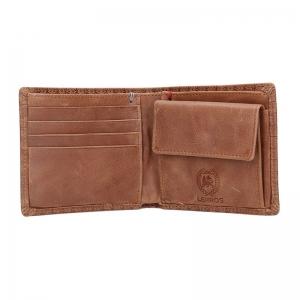 Kožená pánská peněženka Lerros Jerom - hnědá