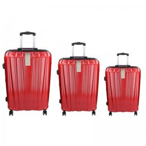 Sada 3 cestovních kufrů Snowball Lada S,M,L - tmavě červená