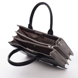 Dámská kabelka David Jones Viola - černo-stříbrná