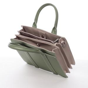 Dámská kabelka David Jones Viola - zeleno-béžová