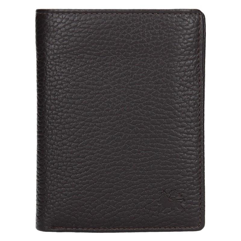 Kožená pánská peněženka Lerros Fredy - tmavě hnědá