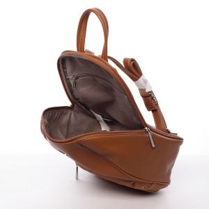 Módní dámský batoh David Jones Olivia - koňak