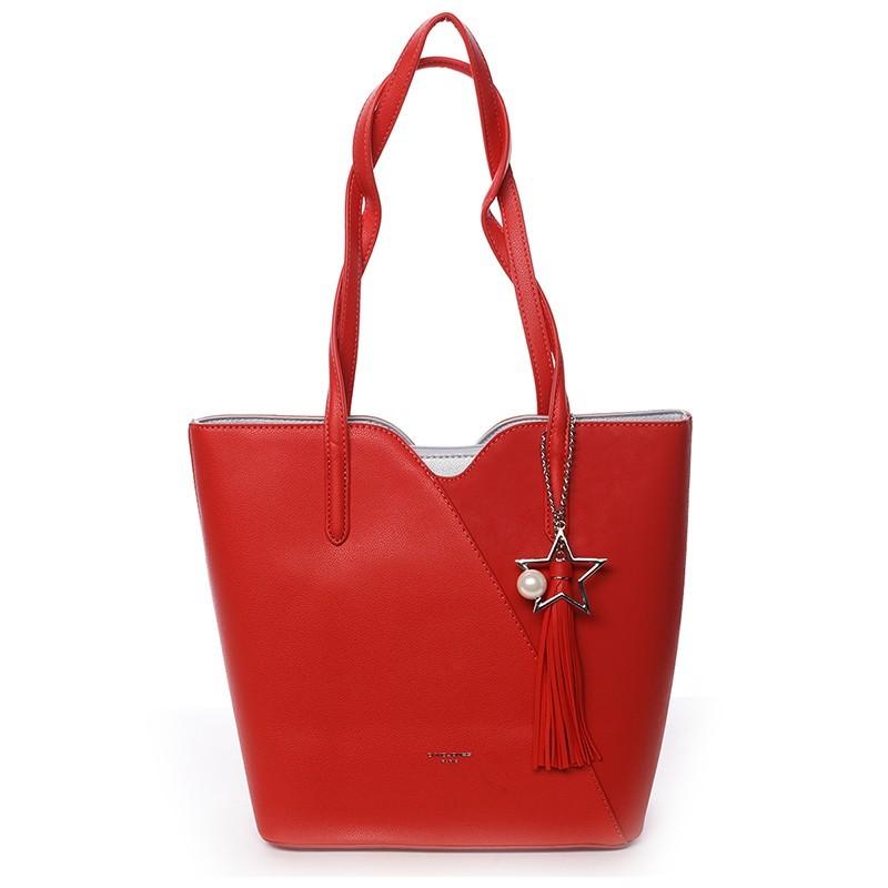 Dámská kabelka David Jones Lenka - červená
