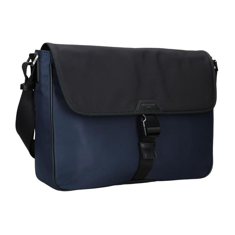 Pánská taška přes rameno Hexagona Quido - modro-černá