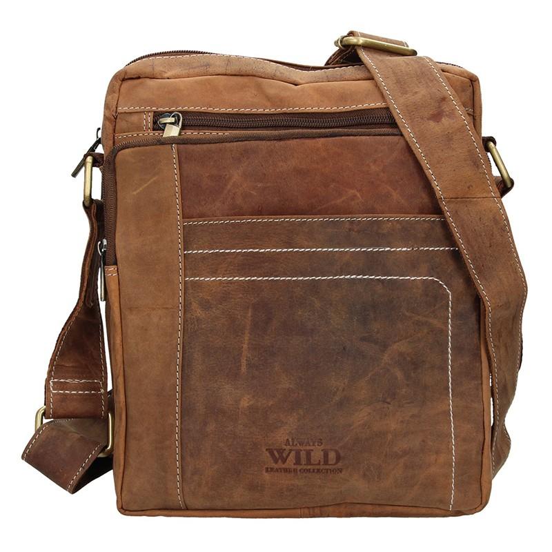 7b03e743c7 Pánská taška přes rameno Always Wild Frencis - světle hnědá