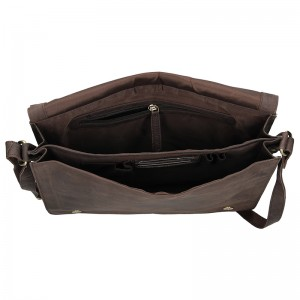Pánská taška přes rameno Always Wild Boston - tmavě hnědá