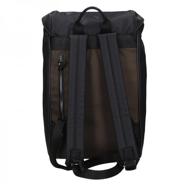 Moderní pánský batoh Hexagona Citizen - černo-hnědá