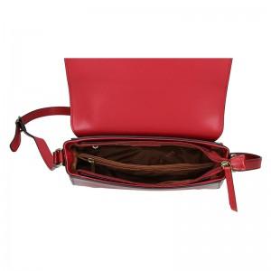 Kožená dámská crosbody kabelka Katana Zina - tmavě červená