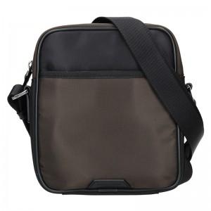 Pánská taška přes rameno Hexagona Moris - černo-hnědá