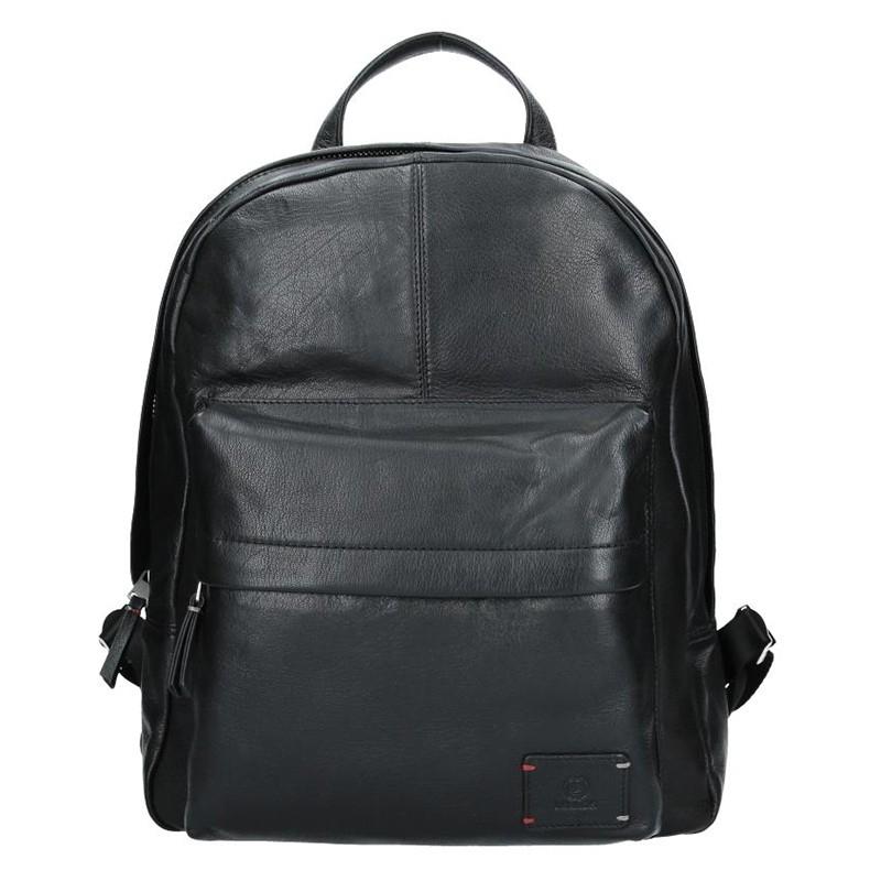 Pánský kožený batoh Lerros Maxim - černá 3c71cd5328