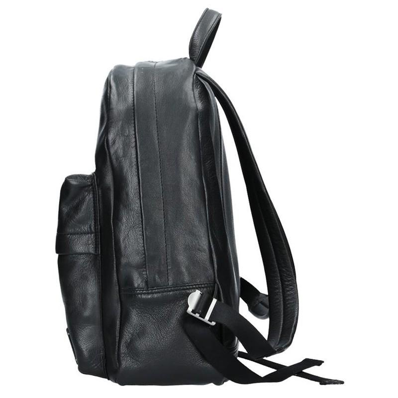 Pánský kožený batoh Lerros Maxim - černá