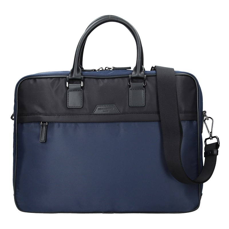 Pánská taška na notebook Hexagona Aarvold - modro-černá