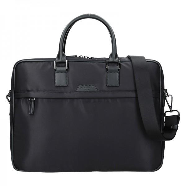 Pánská taška na notebook Hexagona Aarvold - černá