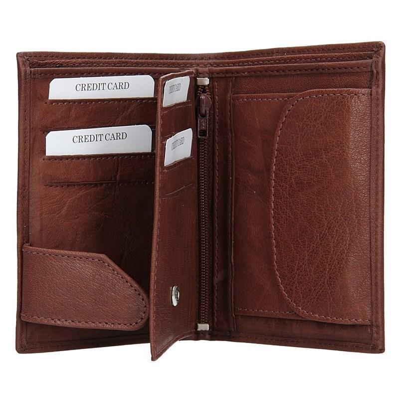Pánská kožená peněženka SendiDesign SNW6945 - tmavě hnědá