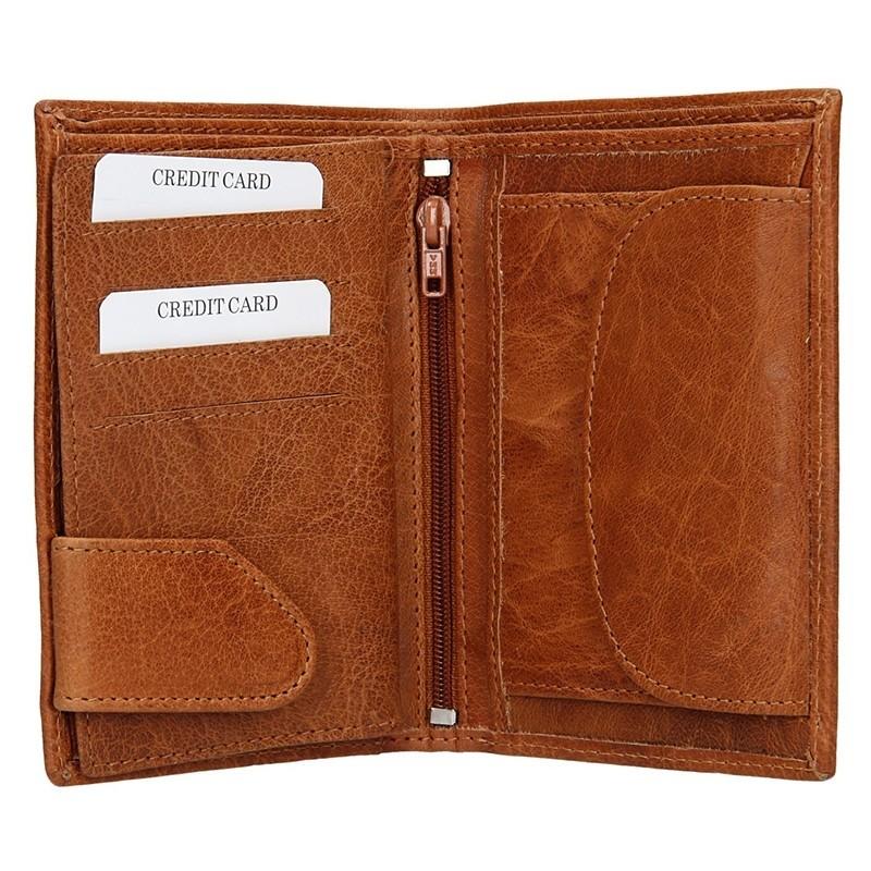 Pánská kožená peněženka SendiDesign SNW6945 - světle hnědá