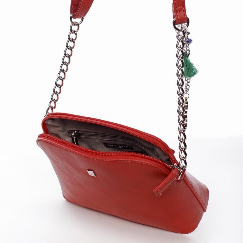 Dámská crossbody kabelka David Jones Ivona - červená