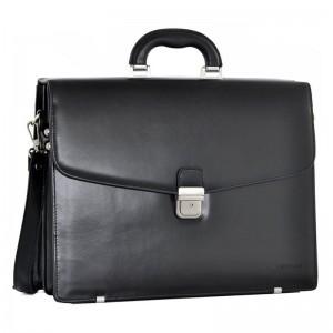 Luxusní pánská kožená taška Daag Áres - černá