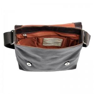 Pánská taška přes rameno Daag Alf - tmavě hnědá