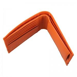Pánská kožená peněženka Calvin Klein Natah - oranžová