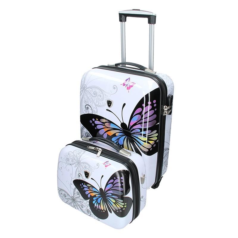 Sada dvou cestovních kufrů Madisson Ritta - bílá 42l