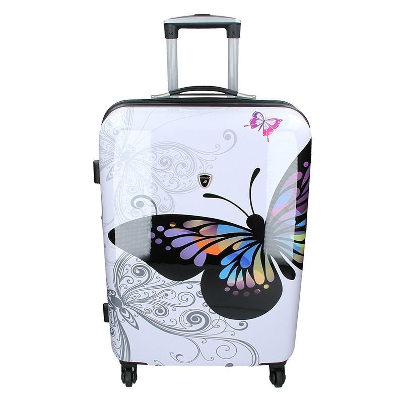 Cestovní kufr Madisson Ritta M - bílá 66l