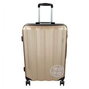 Sada 3 cestovních kufrů Marina Galanti Nova S, M, L - zlatá