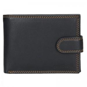 Pánská kožená peněženka SendiDesign Tarras - černá