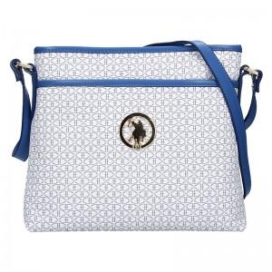 Dámská crossbody kabelka U.S. POLO Ritta - bílo-modrá