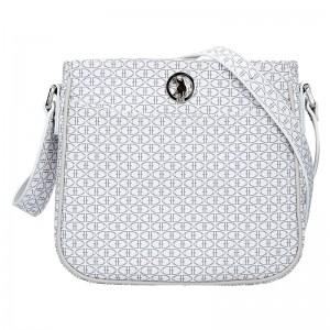 Dámská crossbody kabelka U.S. POLO Miriam - šedo-bílá