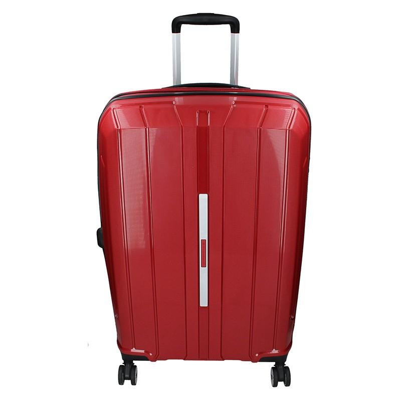 Cestovní kufr Snowball Barcelona M - vínová 65l