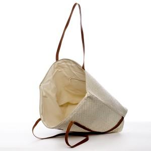 Plážová taška Vilma - béžovo-hnědá
